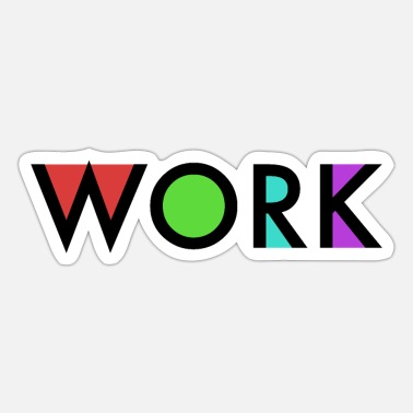 Worker Work - Sticker