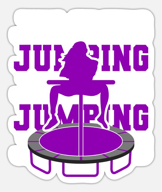 Jumpstyle Sticker - Jumping Trampolin Trendsport Fitness Jumpstyle - Sticker Mattweiß