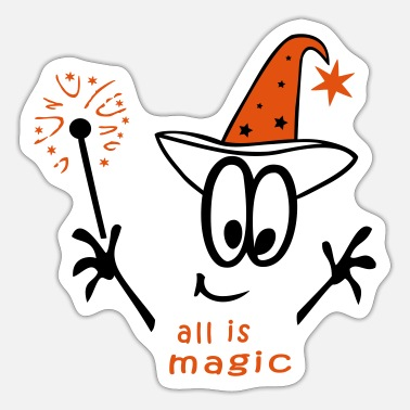 Wand Magician with wand - Sticker