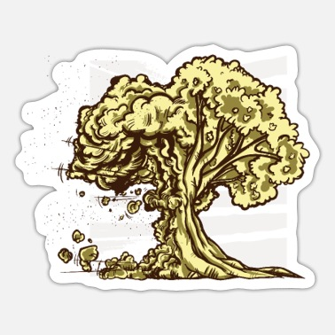 Nature Conservation Atomic bomb nature conservation shirt - Sticker