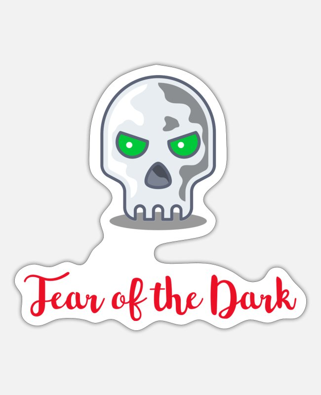Bestsellers Stickers - Fear of the Dark cent file - Sticker white mat
