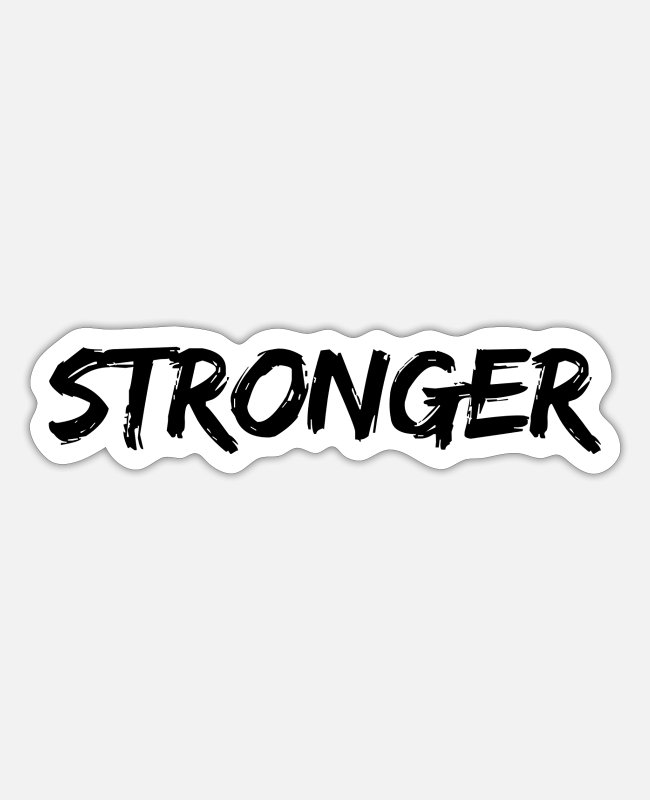 Motivation Stickers - Stronger - Sticker white matte