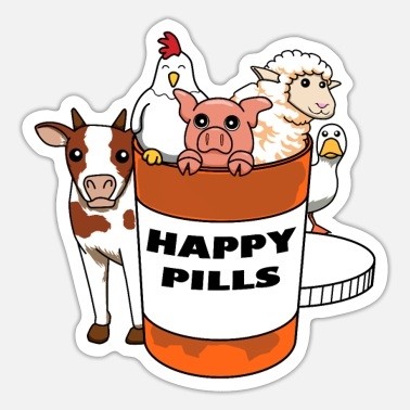 Farm Animal Farm animal farm animal cow agriculture farmer - Sticker