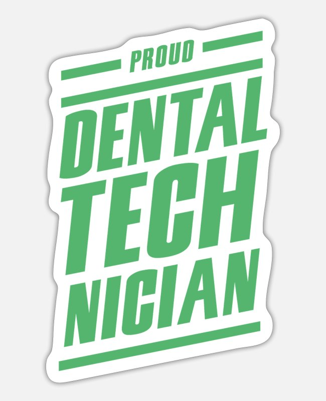 Dental Practice Stickers - dental technician - Sticker white mat