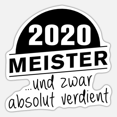 Meister Meister 2020 Meisterschaft absolut verdient - Sticker