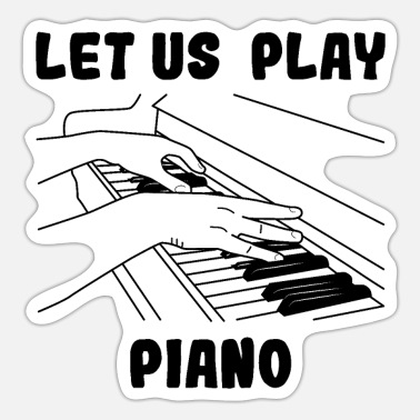Piano Pianist - Sticker