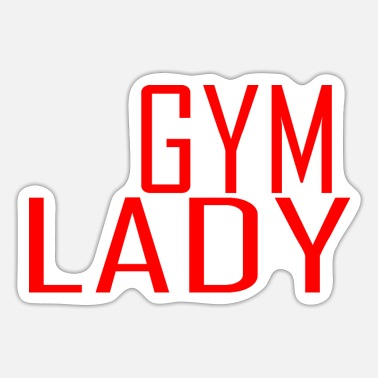 Gym lady - Sticker