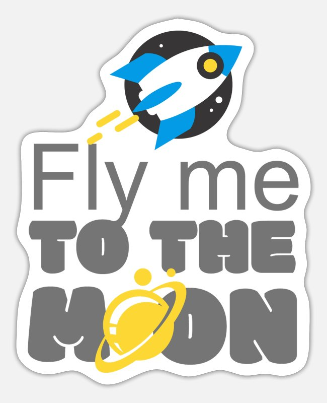 Missile Stickers - Missile flies me to the moon - Sticker white matte