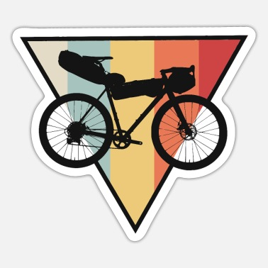 Gravel bike racing bike cyclocross bike bike tours - Sticker