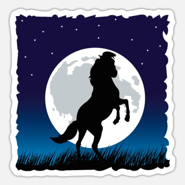 Prancing Prancing pony in the moonlight - Sticker