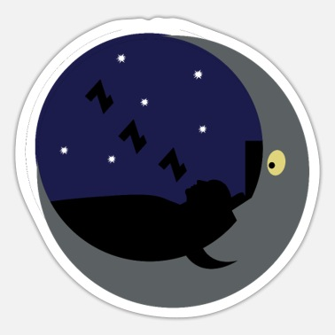 sleep in the moon shine - sleep in the moonlight - Sticker