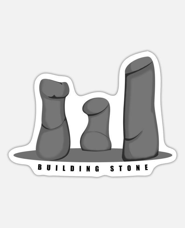 Mountains Stickers - Building stone - Sticker white matte