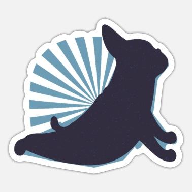 Dogs yoga funny yoga design with dog - Sticker