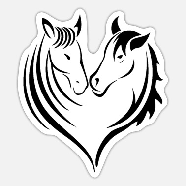 Horse Lover Horses heart horse lovers - Sticker