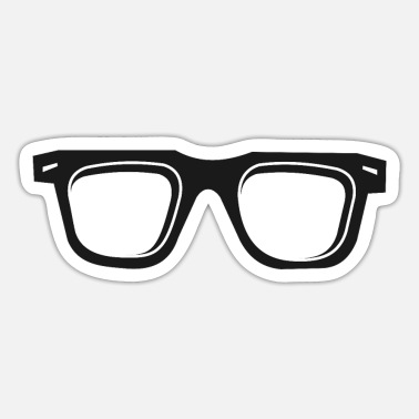 Glass Glasses glasses - Sticker