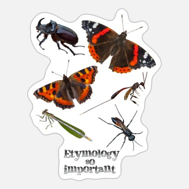 Insects Insects - Insects with text - Sticker