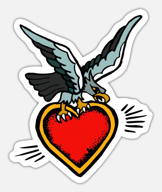 Liefhebben Stickers - AGUILA CORAZON - Sticker mat wit
