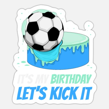 Soccer player cake - Sticker