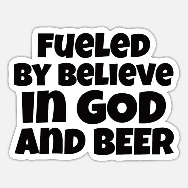Beer Christ BEER /GOD : God And BEER - Sticker