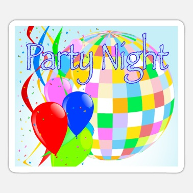 Nachtcache Party Night Bright Disco Ball - Sticker