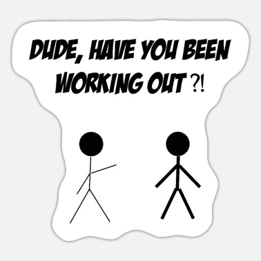 Schwarz dude working out schwarz - Sticker