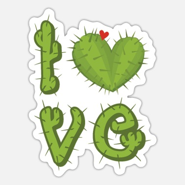 Prickly Prickly love - Sticker