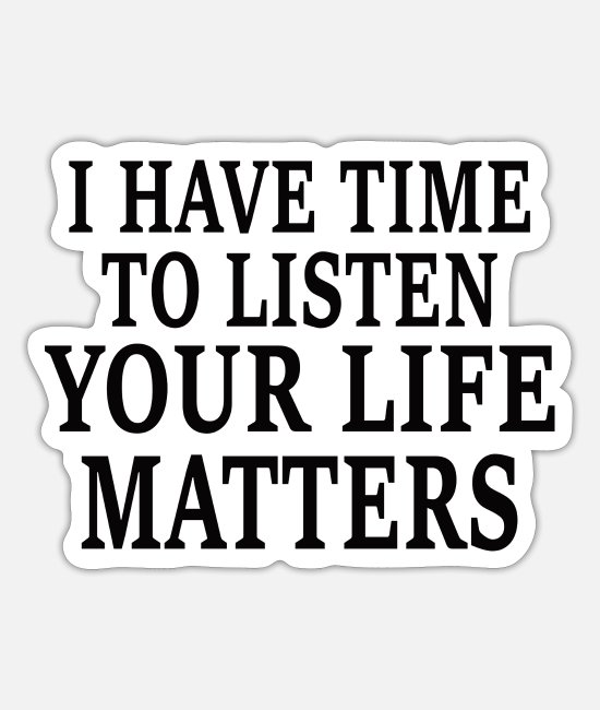 Mental Health Stickers - MENTAL HEALTH AWARENESS: Life Matters - Sticker white mat