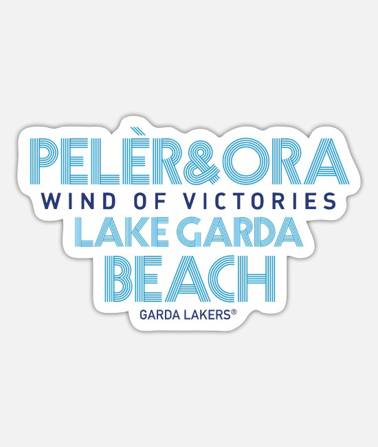 Sail Boat Stickers - Garda Lakers Pelèr & Ora - Sticker white mat