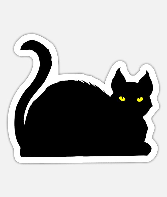 Witchcraft Stickers - Cats - Symbol of Witchcraft - Sticker white mat