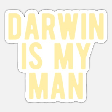 Darwin ATHEIST: Darwin is mijn man - Sticker