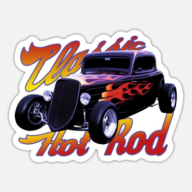 Hot Classic hot rod - Sticker