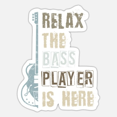 Guitar Bass guitar - Sticker