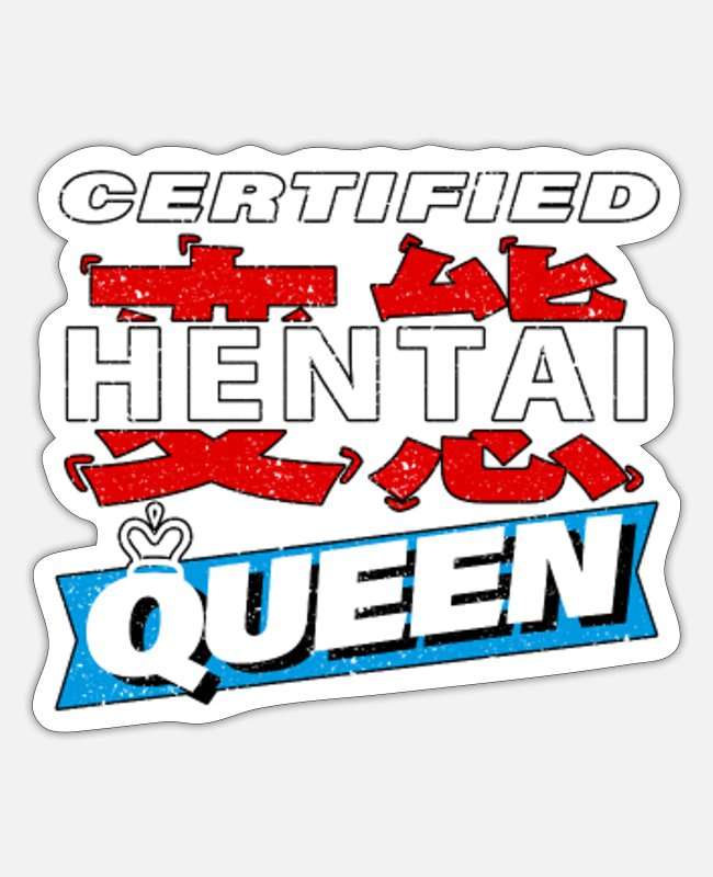 Lewd Anime Stickers - Hentai Queen - Anime Matching Couple - Sticker white mat