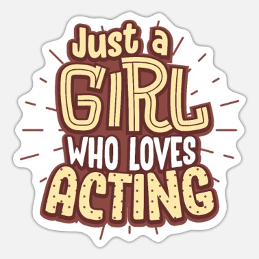 Actress actress - Sticker