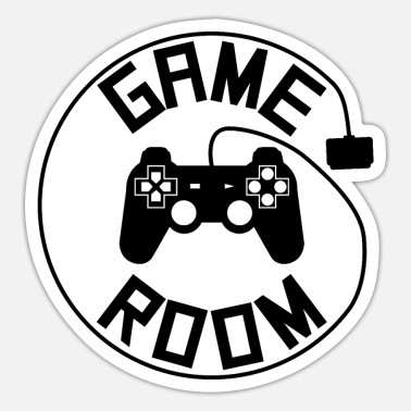 Console Game room poster - Sticker