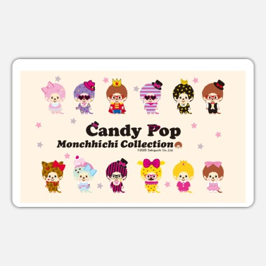 Monchhichi Collection Candy Pop - Naklejka