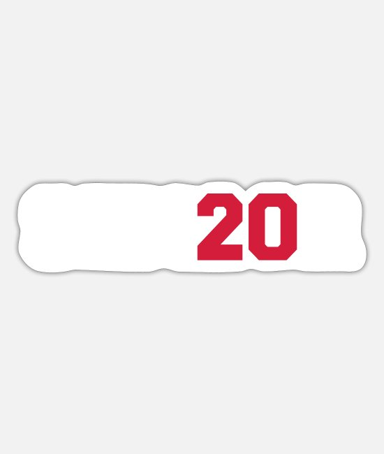 University Stickers - Senior 2020 - Sticker white mat