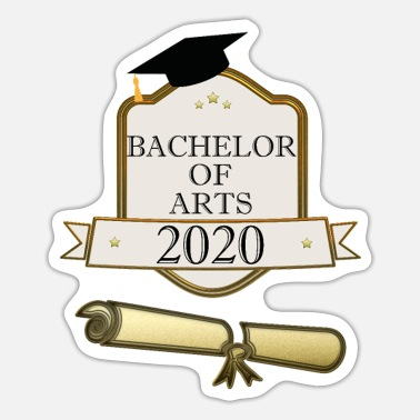 Study Graduation Bachelor of Arts 2020 studies graduation diploma - Sticker
