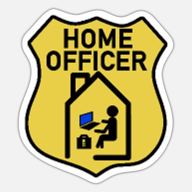 Home officer police brand in home office - Sticker