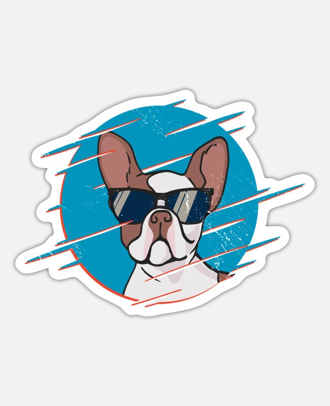 Dog Owner Stickers - French bulldog dog lover gift idea - Sticker white matte