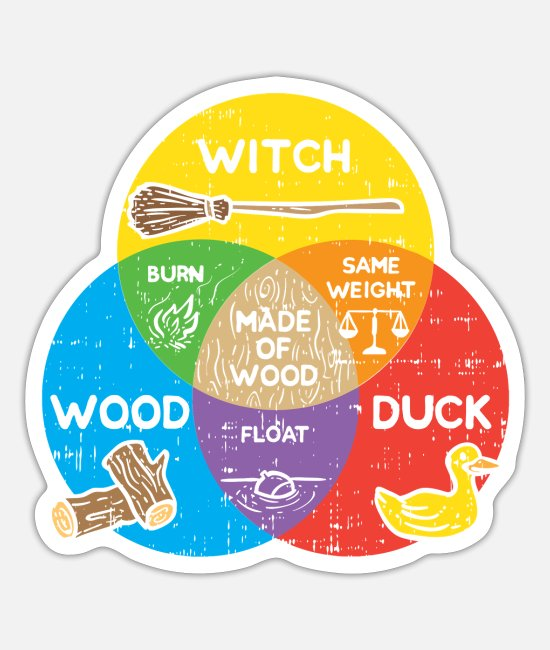 Witchcraft Stickers - Witchcraft - Witch Duck Wood - Sticker white mat