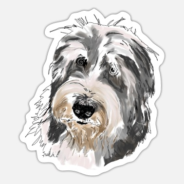 Bearded Bearded Collie - Sticker