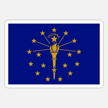 State Flag Indiana State Flag - Sticker