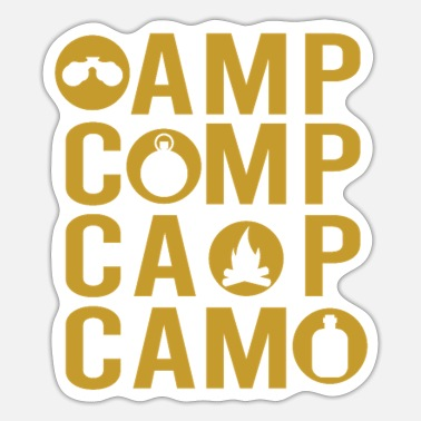 To Camp Camping and camping - Sticker
