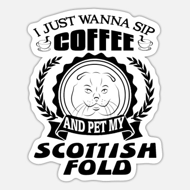 Fold Scottish fold - Sticker