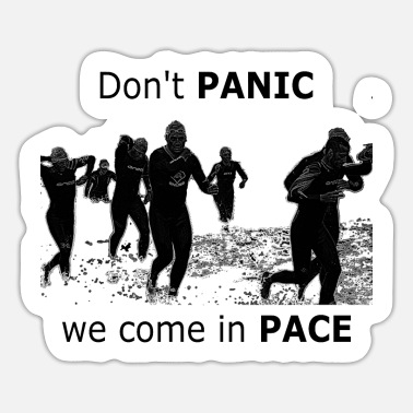 Pace We come in pace - Sticker
