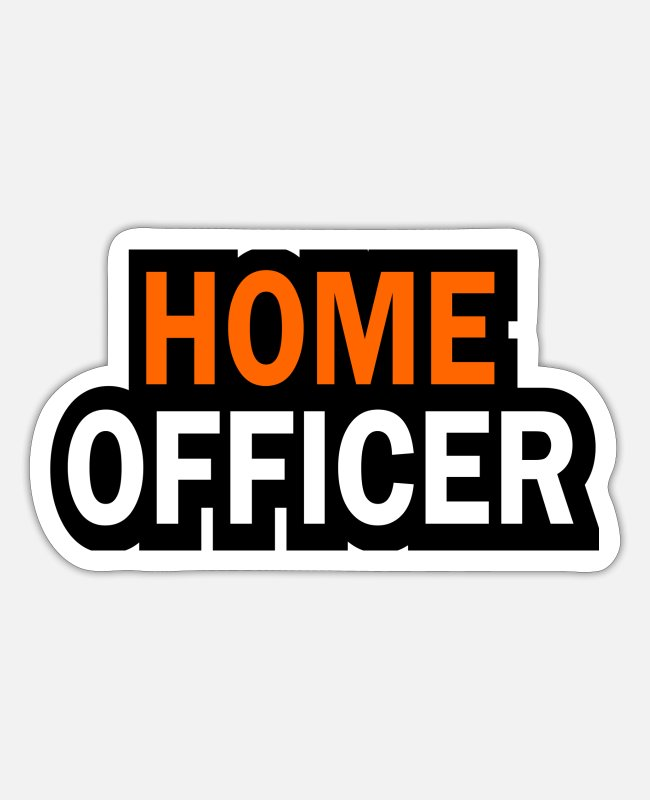 Occupation Stickers - Home officer - Sticker white mat