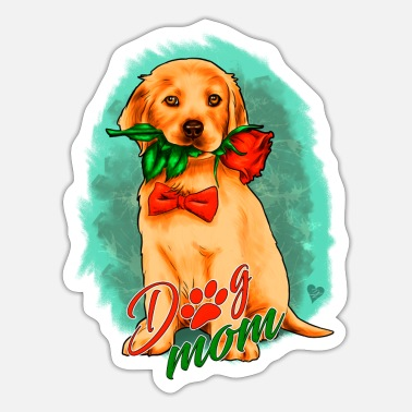 Pentecostal Dog Puppy Dog Mom | Yolo artwork - Sticker