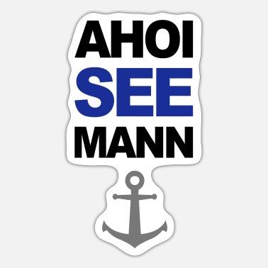 Harbour Ahoi Seemann hamburg Hafen harbour anchor - Sticker
