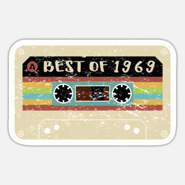 Tonband Kassette Tape Tonband Best of 1969 Geschenkidee - Sticker